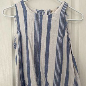 ALTAR'D STATE BLUE AND WHITE TANK TOP